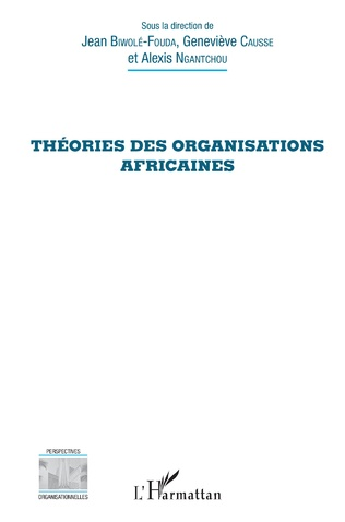 Couverture Théories des organisations africaines