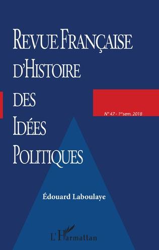 Couverture Revue française d'Histoire des idées politiques