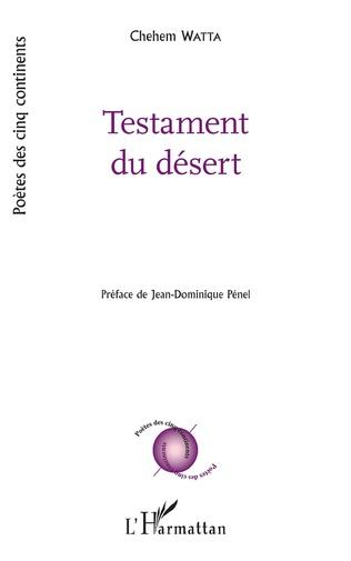 Couverture Testament du désert