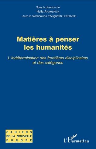 Couverture Matières à penser les humanités