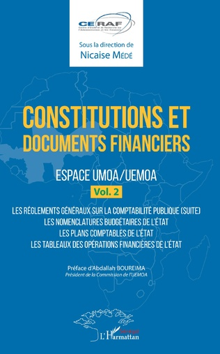 Couverture Constitutions et documents financiers Vol 2 Espace UMOA/UEMOA