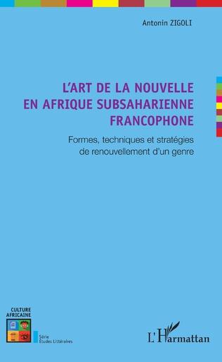 Couverture L'art de la nouvelle en Afrique subsaharienne francophone