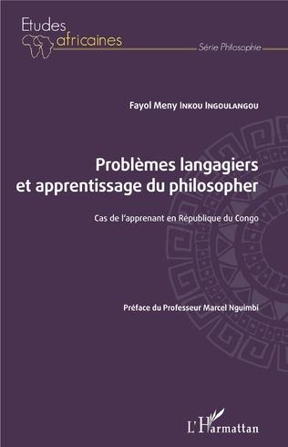 Couverture Problèmes langagiers et apprentissage du philosopher