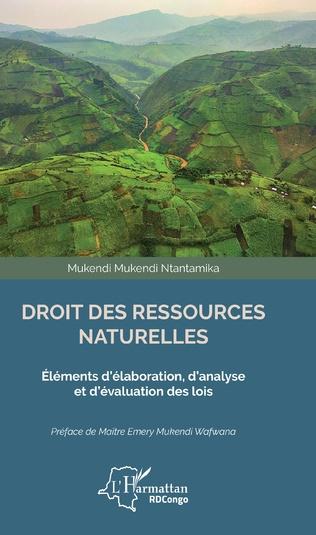Couverture Droit des ressources naturelles