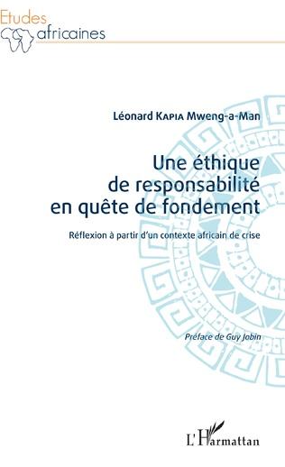Couverture Une éthique de responsabilité en quête de fondement