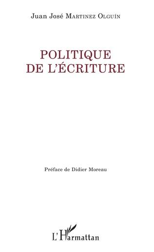 Couverture Politique de l'écriture