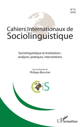 Couverture Cahiers Internationaux de sociolinguistique n°13