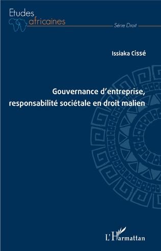 Couverture Gouvernance d'entreprise, responsabilité sociétale en droit malien