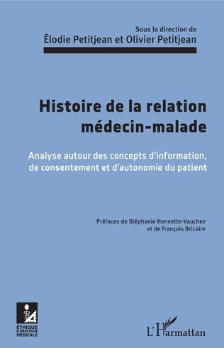 Couverture Histoire de la relation médecin-malade