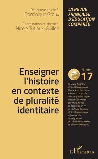 Couverture Enseigner l'histoire en contexte de pluralité identitaire