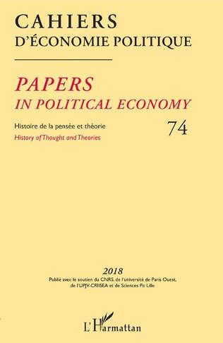 Couverture Cahiers d'économie politique 74