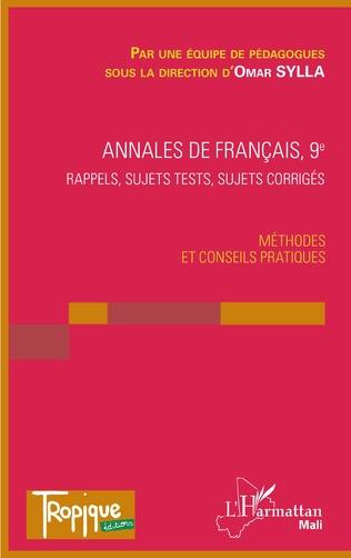 Couverture Annales de Français 9e