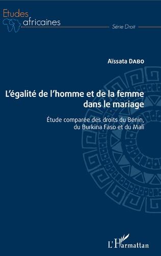 Couverture L'égalité de l'homme et de la femme dans le mariage