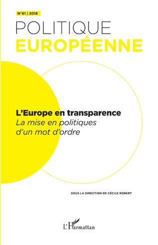 Couverture L'Europe en transparence