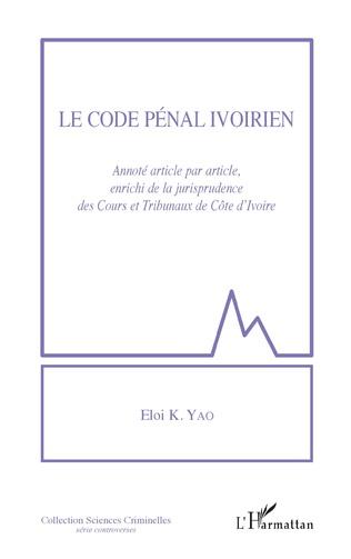 Couverture Le code pénal ivoirien