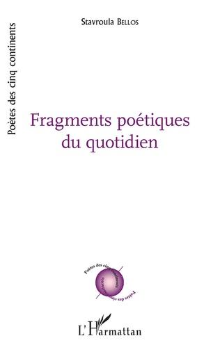 Couverture Fragments poetiques du quotidien