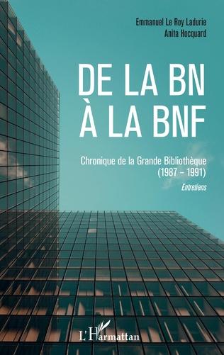 Couverture De la BN à la BNF