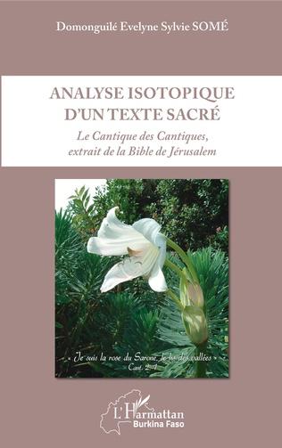 Couverture Analyse isotopique d'un texte sacré