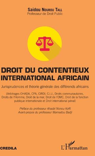 Couverture Droit du contentieux international africain