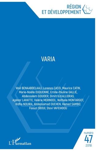Couverture VARIA 47