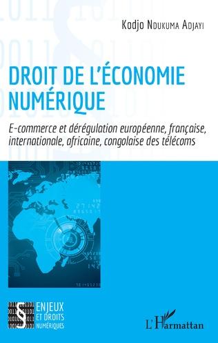 Couverture Droit de l'économie numérique