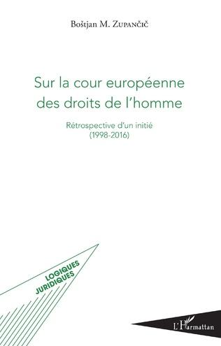 Couverture Sur la cour européenne des droits de l'homme