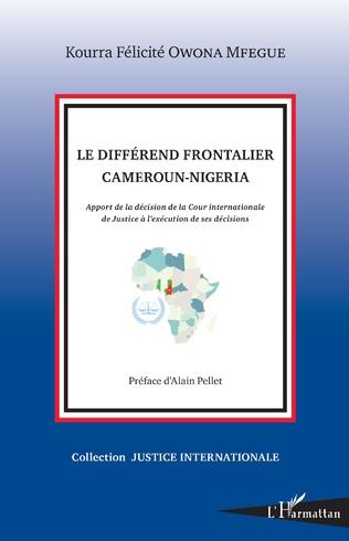Couverture Le différend frontalier Cameroun-Nigeria