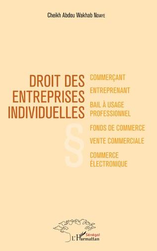 Couverture Droit des entreprises individuelles