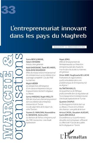 Couverture L'entrepreneuriat innovant dans les pays du Maghreb