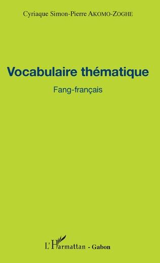Couverture Vocabulaire thématique Fang-français