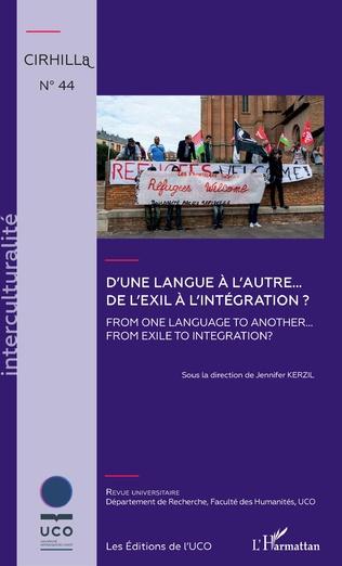 Couverture D'une langue à l'autre... De l'exil à l'intégration ?