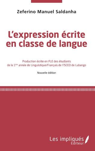Couverture L'Expression écrite en classe de langue