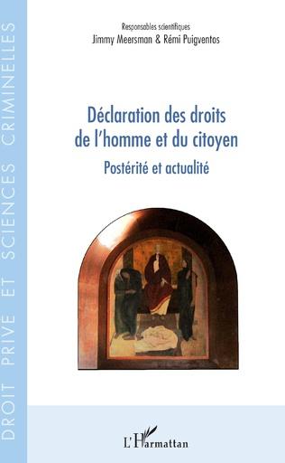 Couverture Déclaration des droits de l'homme et du citoyen