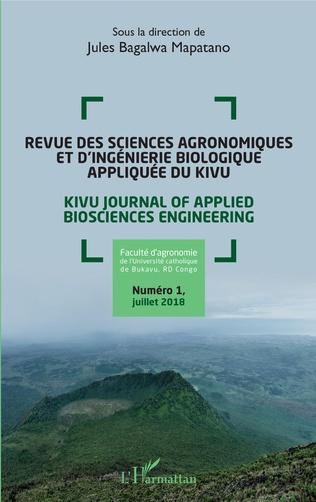 Couverture Revue des sciences agronomiques et d'ingénierie biologique appliquée du Kivu