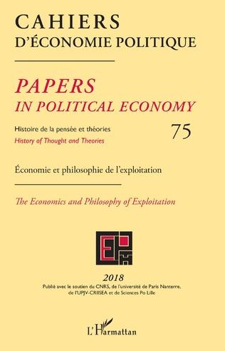 Couverture Cahiers d'économie politique 75
