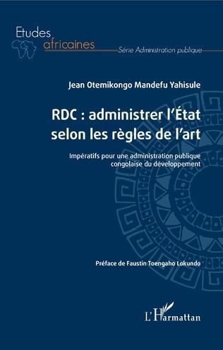 Couverture RDC : administrer l'Etat selon les règles de l'art
