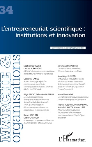 Couverture L'entrepreneuriat scientifique : institutions et innovation