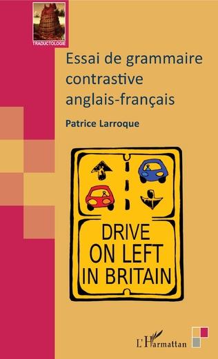 Couverture Essai de grammaire contrastive anglais-français
