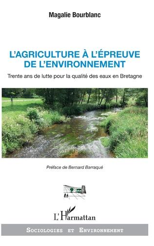 Couverture L'agriculture à l'épreuve de l'environnement