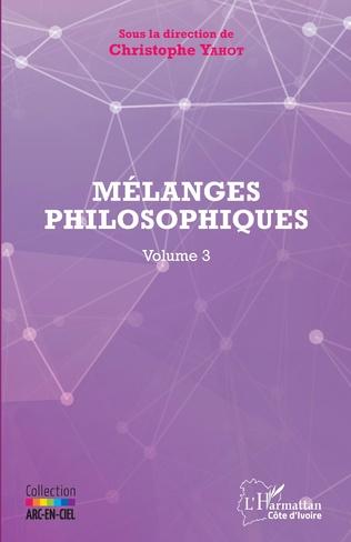 Couverture Mélanges philosophiques Volume 3