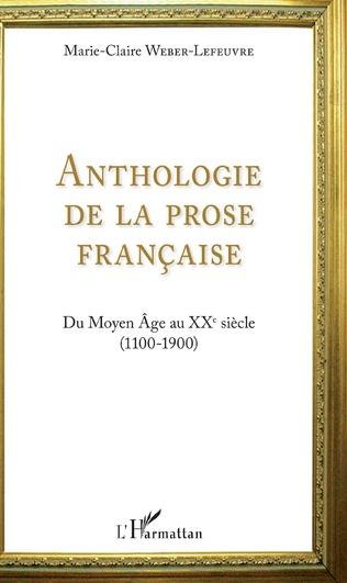Couverture Anthologie de la prose française