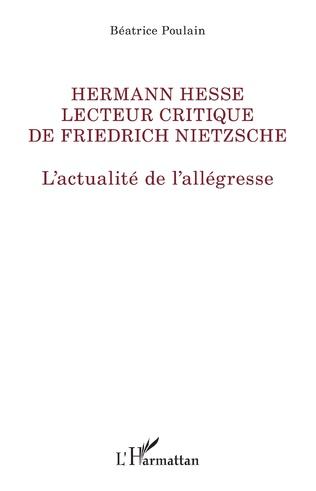 Couverture Hermann Hesse lecteur de Friedrich Nietzsche
