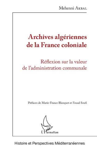 Couverture Archives algériennes de la France coloniale