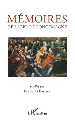Couverture Mémoires de l'abbé de Foncemagne
