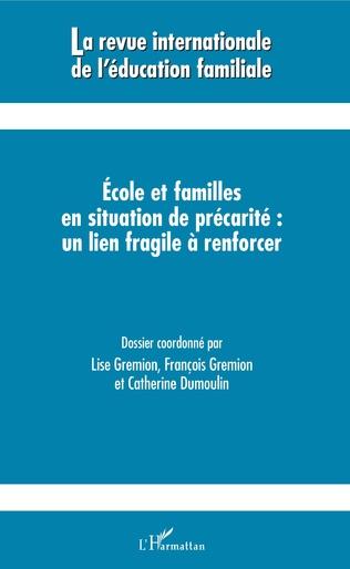 Couverture Ecole et familles en situation de précarité : un lien fragile à renforcer
