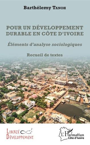 Couverture Pour un développement durable en Côte d'Ivoire