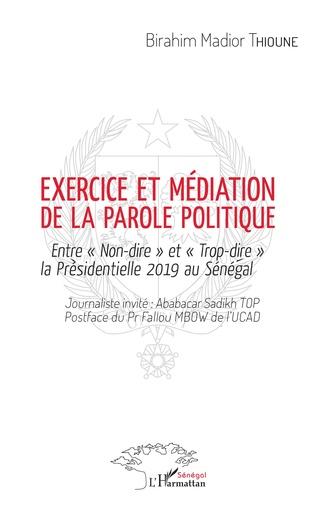 Couverture Exercice et médiation de la parole politique