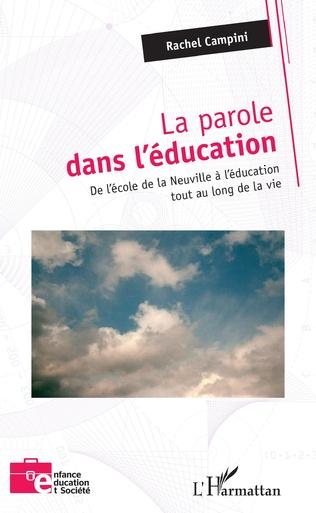 Couverture La parole dans l'éducation