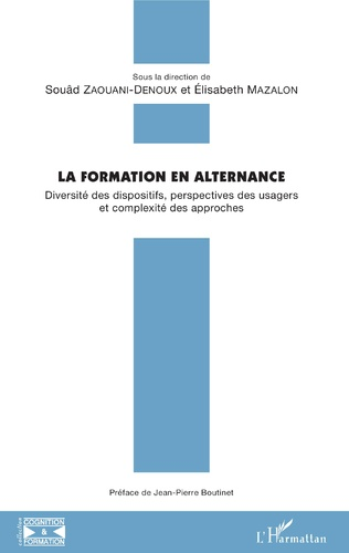 Couverture La formation en alternance