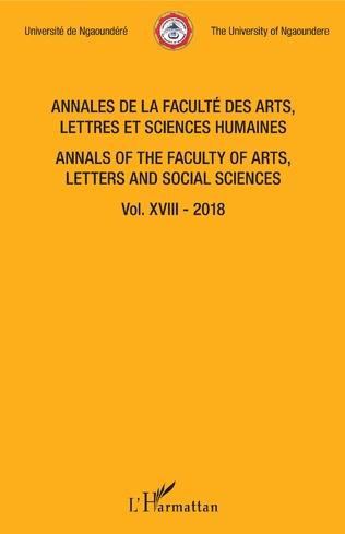 Couverture Annales de la faculté des arts, lettres et sciences humaines Vol XVIII - 2018